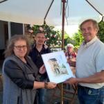 Stefan Kniffka malte den Trafoturm. Ein Dankeschön für Herrn Kreft .
