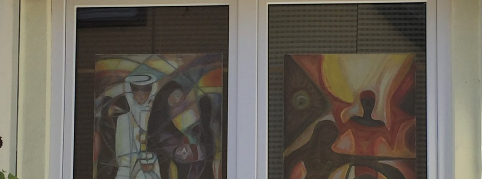 Kalles Kunstfenster in Oppenheim, Vorstädterstr.14